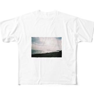 冬の七里ヶ浜 Full graphic T-shirts