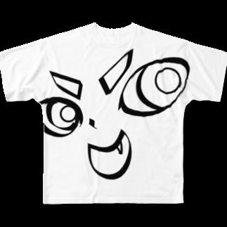 TarCoon☆GooDs - たぁくーんグッズのTarCoon☆FaCe Full graphic T-shirts
