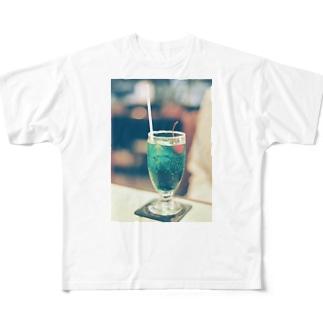 メロンソーダ Full graphic T-shirts