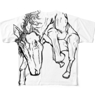 Restive horse Full graphic T-shirts