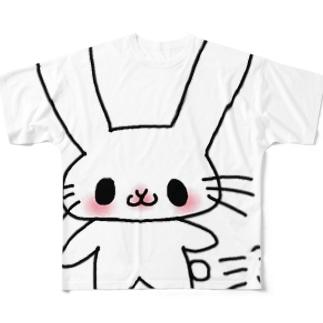 DADAうさちゃん Full graphic T-shirts