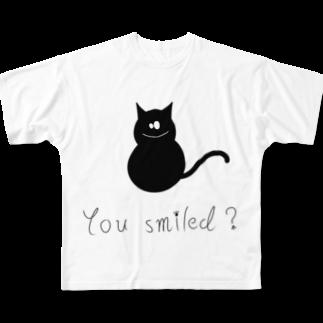 helloの猫 Full graphic T-shirts