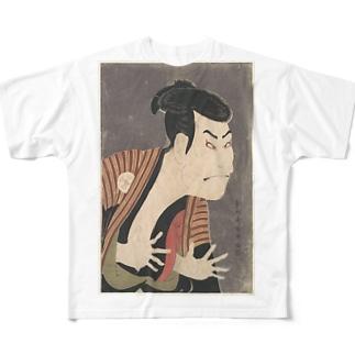 三代目大谷鬼次の奴江戸兵衛 Full graphic T-shirts