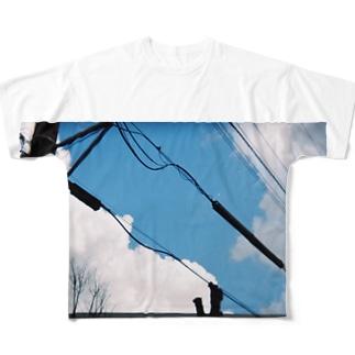 澄み渡れ Full graphic T-shirts