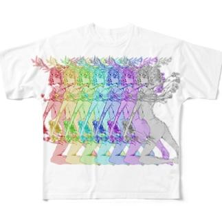 Bambi(Rainbow) Full graphic T-shirts