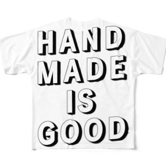 HANDMADE IS GOOD Full graphic T-shirts