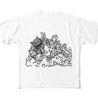 猫も杓子も Full graphic T-shirts