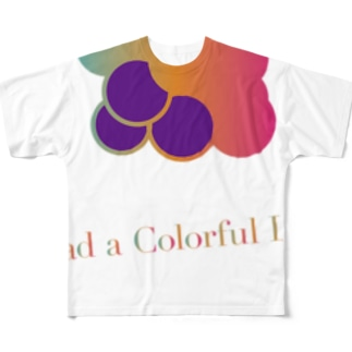 Colorful Grapes ver2.0 Full graphic T-shirts