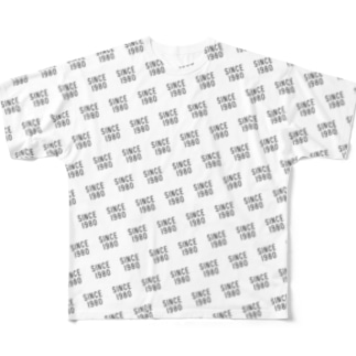SINCE1980 pattern Full graphic T-shirts