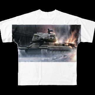 ギギギガガガのST-I  重戦車 Full graphic T-shirts
