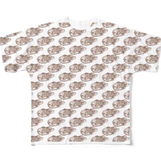たい焼き大好き 〈叢〉 Full graphic T-shirts