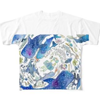 海の中で眠る Full graphic T-shirts
