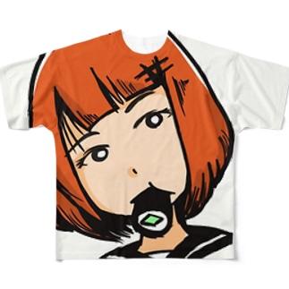 寿司ガール Full graphic T-shirts