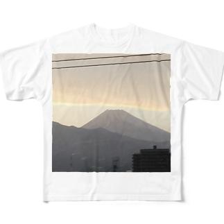 富士山 Full graphic T-shirts