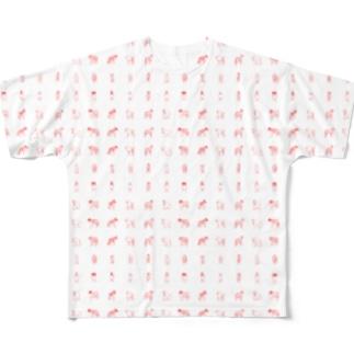大型犬の回転体たち Full graphic T-shirts