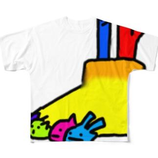 足がかゆい Full graphic T-shirts