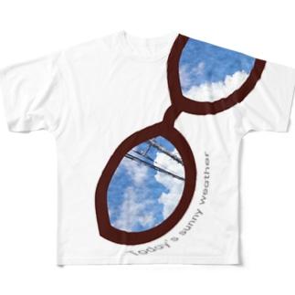 晴天のメガネ Full graphic T-shirts