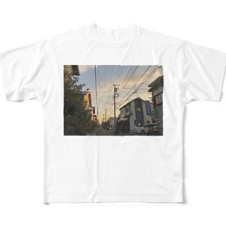 夕方の帰り道 Full graphic T-shirts
