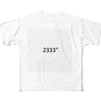 2333″ Full graphic T-shirts