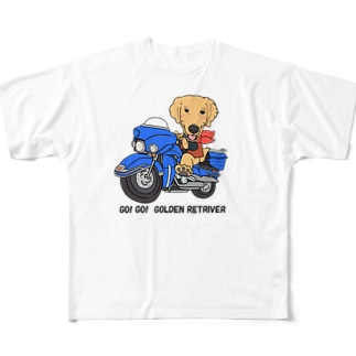 ゴーゴー・ゴールデンレトリバー Full graphic T-shirts