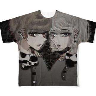 月光ちゃんくん Full graphic T-shirts