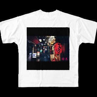 gawatan7411の場末 Full graphic T-shirts