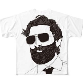 おしゃれなひげおじさん Full graphic T-shirts