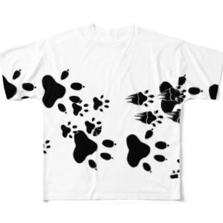 わんこ通過 Full graphic T-shirts
