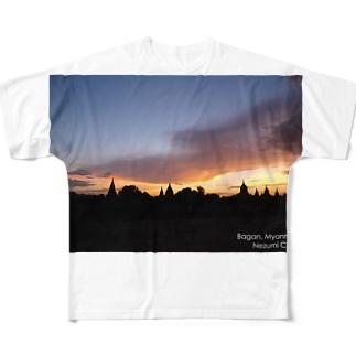 Bagan, Myanmar. フルグラフィックTシャツ
