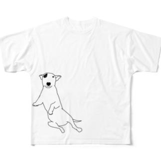 ミニチュアブルテリア Full graphic T-shirts