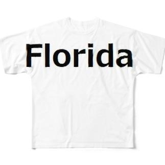 Florida フロリダ Full graphic T-shirts