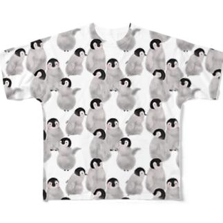 ペンギンたくさん Full graphic T-shirts