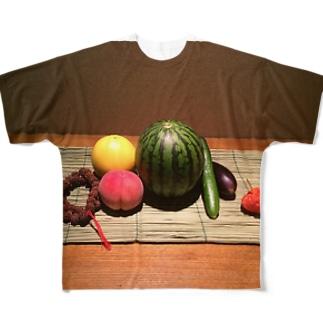 お盆 Full graphic T-shirts