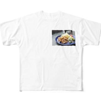 豚の生姜焼き Full graphic T-shirts