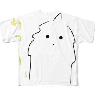 猫力(CAT POWER)のモケモケ1 Full graphic T-shirts