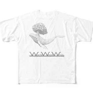 WorldWoodWhale ver2 Full graphic T-shirts