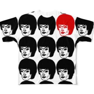 顔が沢山のTシャツ00 Full graphic T-shirts