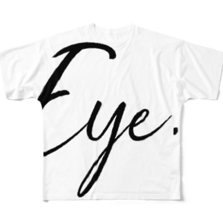 Eye.のEye.suzuri Black Full graphic T-shirts