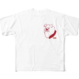 ぶるぶるどっぐ Full graphic T-shirts