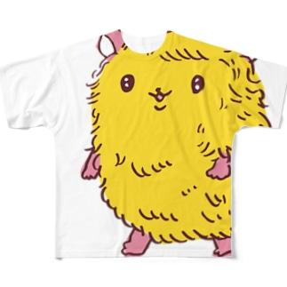 けだまハムスター Full graphic T-shirts