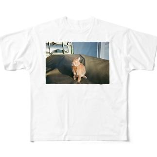 細目マメちゃん Full graphic T-shirts