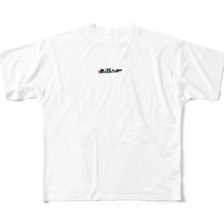 馬の耳にK-POP グリッチ+ Full graphic T-shirts