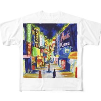 夜の街 Full graphic T-shirts