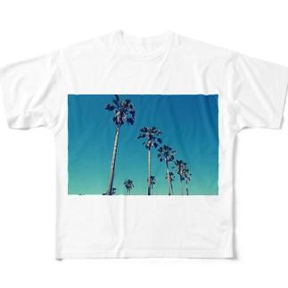 アオゾラヤシ Full graphic T-shirts