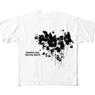 春が漏れてる Full graphic T-shirts