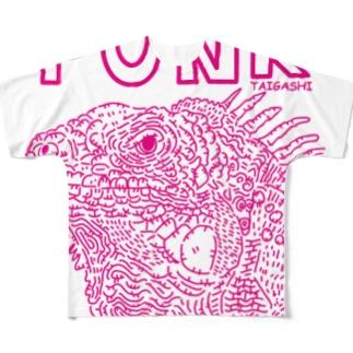 イグアナPUNK Full graphic T-shirts