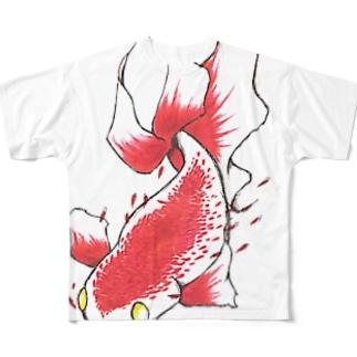 赤い魚 Full graphic T-shirts