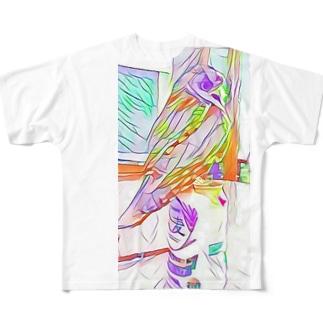 麦なfuu Full graphic T-shirts