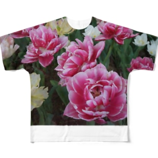 いちこのflowers Full graphic T-shirts