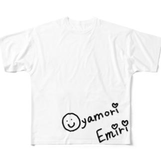 にこにこ親盛えみり Full graphic T-shirts